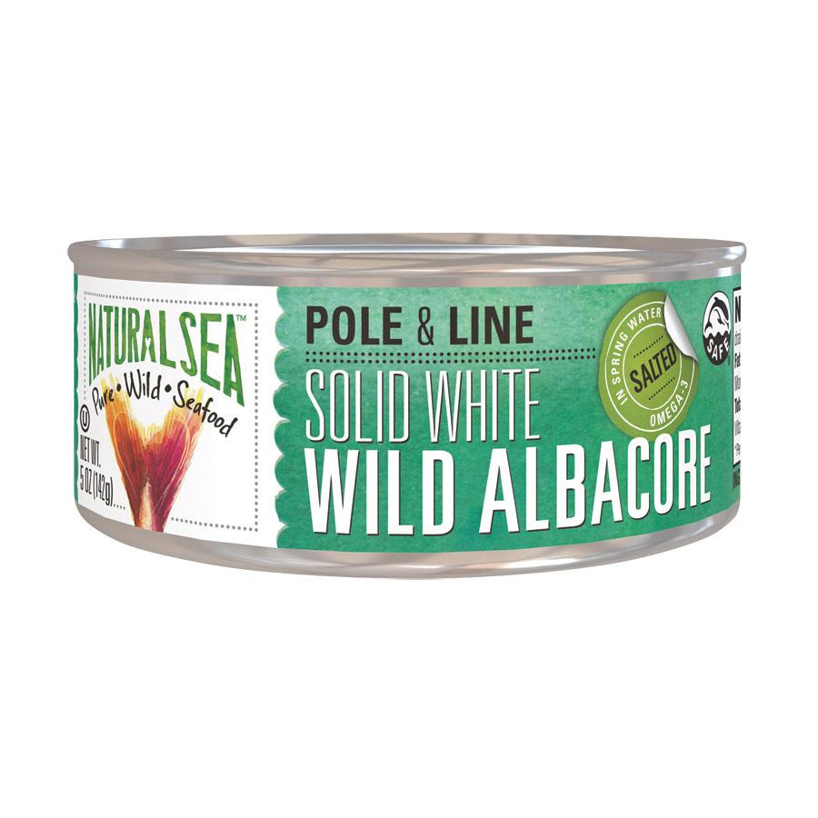 Natural Sea Wild Albacore Tuna - With Sea Salt - 5 oz.