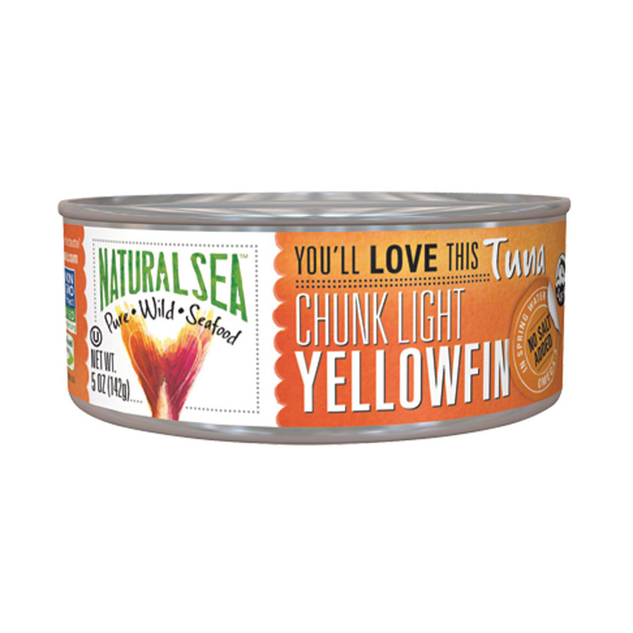 Natural Sea Wild Yellowfin Tuna - Unsalted - 5 oz.