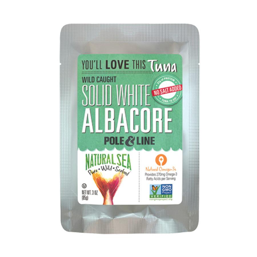 Natural Sea Wild Albacore Tuna Pouch - Unsalted - 3 oz.