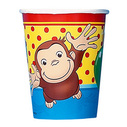 Curious George Curious George 9oz Cups [8 Per Pack]