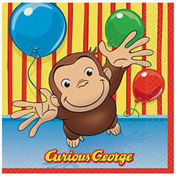 Curious George Curious George Luncheon Napkins [16 Per Pack]