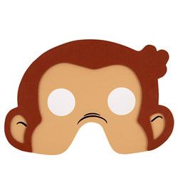 Curious George Curious George Foam Masks [4 Per Pack]