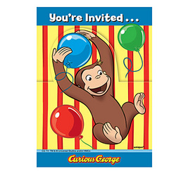 Curious George Curious George Invitations [8 Per Pack]