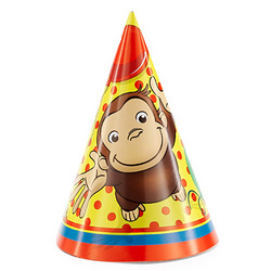 Curious George Curious George Party Hats [8 Per Pack]