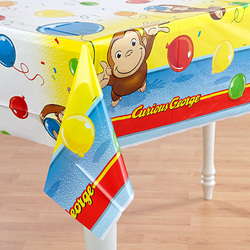 Curious George Curious George Plastic Table Cover