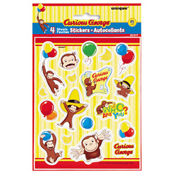 Curious George Curious George Sticker Sheets [4 Per Pack]