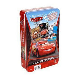 Cars Disney Pixar Cars 4-Card Games in Tin Box
