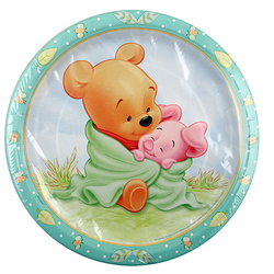 Winnie the Pooh Winnie the Pooh Baby Shower Plates [9 inches - 8