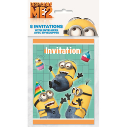 Minions, The Despicable Me 2 Party Invitations [8 Per Pack]