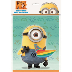 Minions, The Despicable Me 2 Party Loot Bags [8 Per Pack]