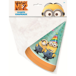 Minions, The Despicable Me 2 Party Hats [8 Per Pack]