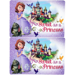 Sofia the First Sofia the First Plastic Placemats [2-Pack]