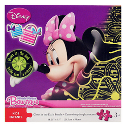 Minnie Mouse Disney Minnie Mouse Bow-tique Glow in the Dark Puzz