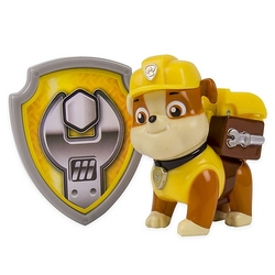 Paw Patrol Paw Patrol - Action Pack Pup & Badge - Rubble