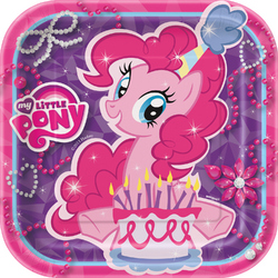 My Little Pony My Little Pony 7 Square Party Plates [8 Per Pack]
