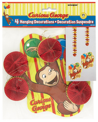 Curious George Curious George Hanging Decorations [4 Per Pack]