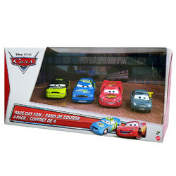 Cars Disney Cars Race Day Fan 4-Pack Die-Cast [Lightning, Marty