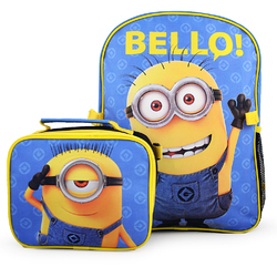 Minions, The Despicable Me 'The Minions' Deluxe Backpack and Lun