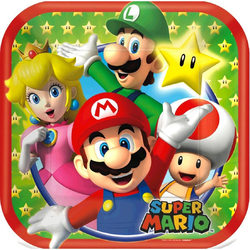 Super Mario Super Mario Bros. 7 Square Plates [8 per Package]