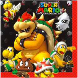Super Mario Super Mario Bros. Luncheon Napkins [16 per Package]