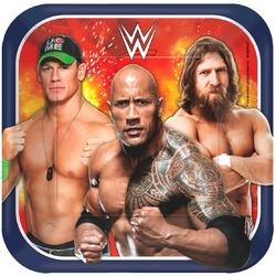 WWE WWE 7 Square Plates [8 per Pack]