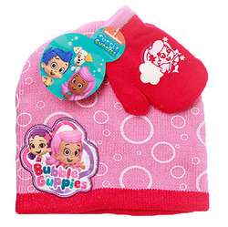 Bubble Guppies Bubble Guppies Winter Hat and Gloves [Pink - Size