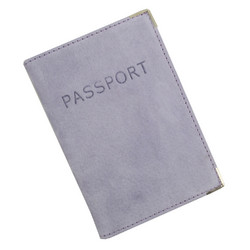 Austin House Austin House Genuine Suede Passport Cover - Periwin