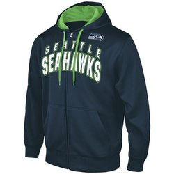 G-III NFL Seattle Seahawks Full Zip Hooded Fleece Sweatshirt [Me