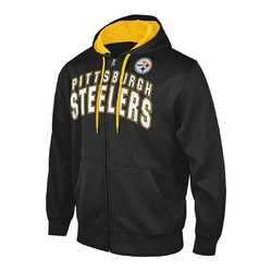 G-III NFL Pittsburgh Steelers Full Zip Hooded Fleece Sweatshirt