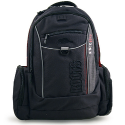 Roots Roots Deluxe Backpack - Black and Grey (Model RTS4254C 195