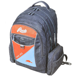 Roots Roots Deluxe Backpack - Grey, Blue and Red (Model RTS4253C