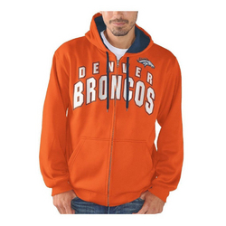 G-III NFL Denver Broncos Full Zip Hooded Fleece Sweatshirt [Men'