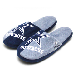 Forever Collectibles NFL Dallas Cowboys Big Logo Slippers [Men's