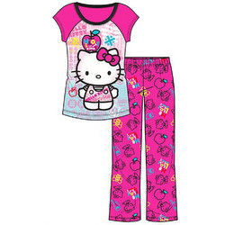 Hello Kitty Hello Kitty Girls\' 2-Piece Pajama Set [Size 8 - Smal