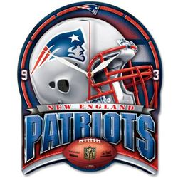 WinCraft NFL New England Patriots High Definition Plaque Clock