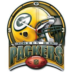 WinCraft NFL Green Bay Packers High Definition Plaque Clock