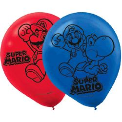 Super Mario Super Mario Brothers Printed Latex Balloons [6 pack]
