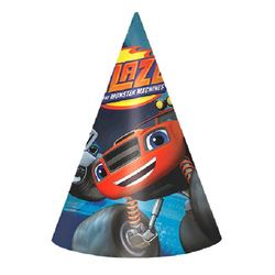 Blaze Blaze and the Monster Machines Paper Cone Hats [8 Per Pack