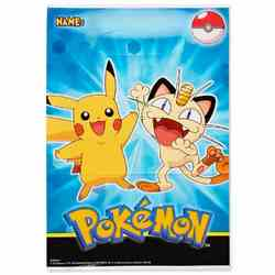 Pokemon Pikachu & Friends Folded Loot Bags [8 Per Pack]