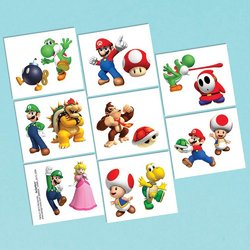 Super Mario Super Mario Brothers Tattoo Favors [16 in package]