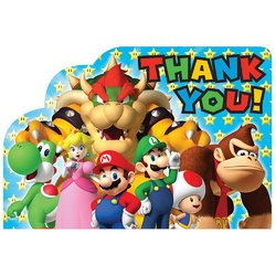 Super Mario Super Mario Brothers Postcard Thank You Cards [8 in