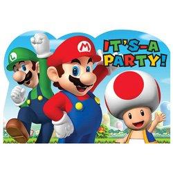 Super Mario Super Mario Brothers Postcard Invitations [8 Per Pac