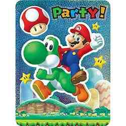 Super Mario Super Mario Brothers Jumbo Deluxe Invitations [8 Per