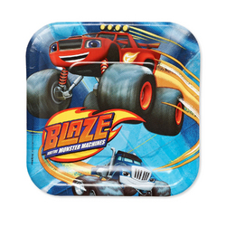 Blaze Blaze and the Monster Machines Square Plates [7 Inches - 8