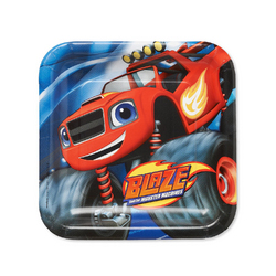 Blaze Blaze and the Monster Machines Square Plates [9 Inches - 8