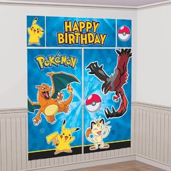 Pokemon Pikachu & Friends Scene Setters Wall Decorating Kit