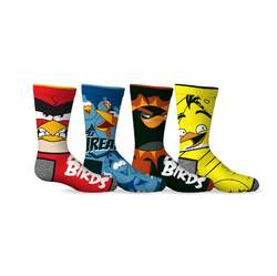 Angry Birds Angry Birds 4-Pack Boys Socks [Shoe Size 11-2 and So