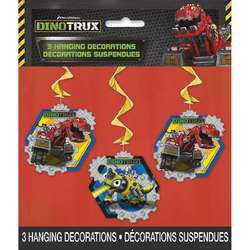 Dinotrux Dinotrux Hanging Swirl Party Decorations [3 per Pack]