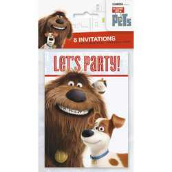 Secret Life of Pets, The The Secret Life of Pets Party Invitatio