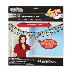 Pokemon Pokemon Pikachu & Friends Jumbo Add-An-Age Letter Party